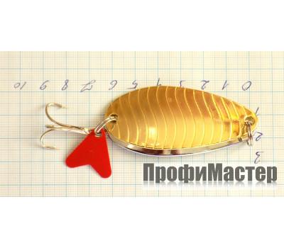 Блесна 24 гр двойная золото с линиями + никель AIKANG