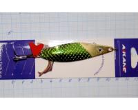 Блесна 18 гр, зеленый с золотом (с глазом) Aikang