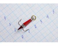 Блесна зимняя Ваучер 2,0 гр, олово с наклейкой красной, кр. Mustad