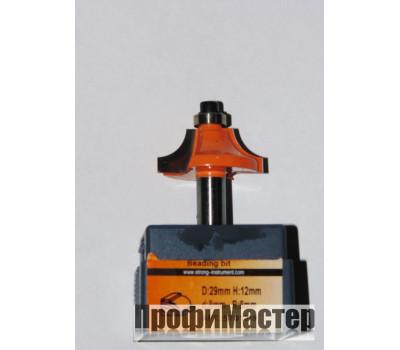 Фреза по дереву для ручного фрезера кромочная калёвочная 33х16 мм хв.8 мм R-10 мм STRONG
