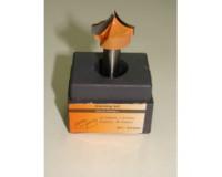 Фреза по дереву для ручного фрезера пазовая фасонная 10х9 мм хв.8 мм R-5 мм STRONG