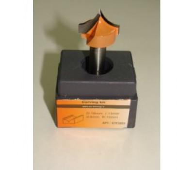 Фреза по дереву для ручного фрезера пазовая фасонная 6х7 мм хв.8 мм R-3 мм STRONG