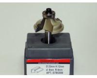 Фреза по дереву для ручного фрезера кромочная калевочная 33х12 мм хв.8 мм R=4 мм STRONG