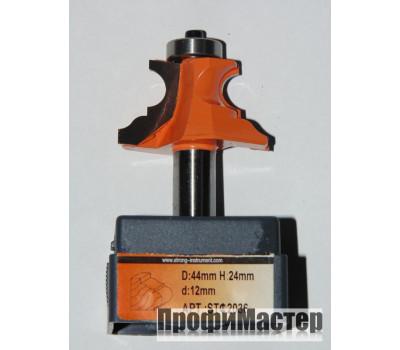 Фреза по дереву для ручного фрезера фигурная 44х24 мм хв.8 мм STRONG