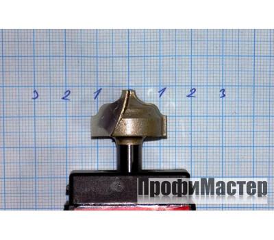 Фреза по дереву для ручного фрезера пазовая фасонная 24х15 мм R 4 ммхв.8 мм STRONG