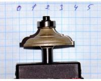 Фреза по дереву для ручного фрезера кромочная калёвочная 40х12 мм хв.8 мм STRONG