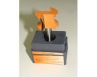Фреза по дереву для ручного фрезера кромочная полустержневая 24х6 мм хв.8 мм R=3 мм STRONG