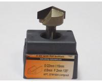 Фреза по дереву для ручного фрезера пазовая галтельная V образная 22х10 мм хв.8 мм 135° STRONG