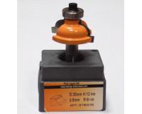 Фреза по дереву для ручного фрезера кромочная калевочная 33х14 мм хв.8 мм R=8 мм STRONG