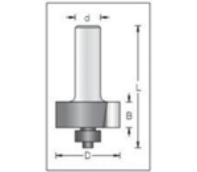 Фреза по дереву для ручного фрезера концевая для выборки четвертей 33х12 мм хв.8 STRONG