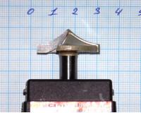 Фреза по дереву для ручного фрезера пазовая фасонная 22х9 мм R 20 ммхв.8 мм STRONG