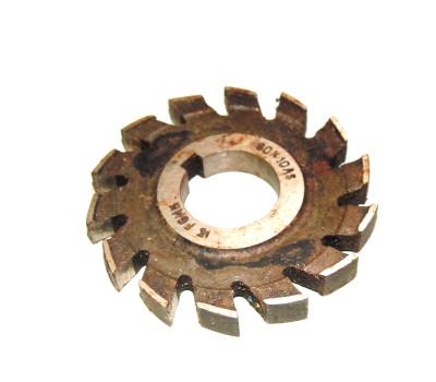 Фреза дисковая пазовая затылованная ф 80х10х27 мм z=14 р6м5 ГОСТ 8543-71
