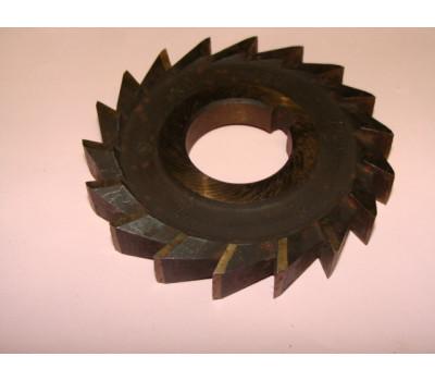 Фреза дисковая 3-х сторонняя 80х6х27 мм z=18 р6м5 с прямыми зубьями ГОСТ 28527-90