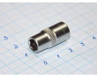 """Головка торцевая МаякАвто 1/4""""  7 мм CrV 6-гранная"""