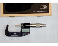 Микрометр цифровой оснащенный твердым сплавом (электронный) МКЦ  25-50 мм (0,001 мм) ПК ГТО