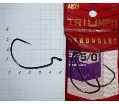 Крючки офсетные AKKOI Triumph STRONGEST № 5/0 (3 крючков)