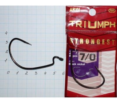 Крючки офсетные AKKOI Triumph STRONGEST № 7/0 (2 крючков)