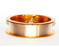 Леска монофильная с покрытием флюрокарбона Золотая 0,08 мм 30 м тест 1.7 кг