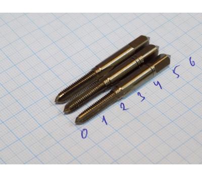 Метчик М 5х0,8 мм HSSE ручной комплектный из 3-х штук DIN 352