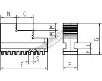 Кулачки обратные шаг 6мм к токарному патрону 100 мм