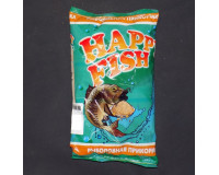Прикормка HAPPY FISH Карась чеснок зеленая, 1000 гр