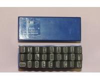Шрифт буквенный стальной латинский 7 мм