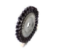 Щетка дисковая металлическая крученая 150х22 мм арт 74634