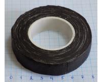 Изолента тканевая черная х/б 19 мм, 140 гр