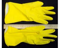 Перчатки хозяйственные с хлопковым напылением Лотос, размер L