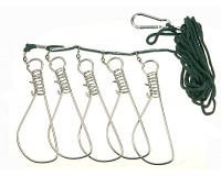 Кукан на шнуре 14 см 5 застежек