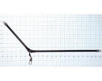 Противозакручиватель изогнутый черный 25 см