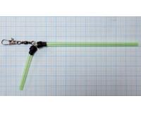 Противозакручиватель изогнутый зеленый 15 см