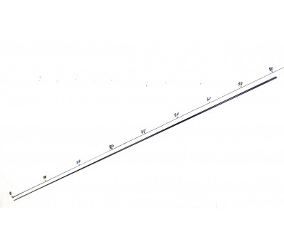 Хлыст карбоновый для удочки ф 4,8 мм L-84 см пустотелый