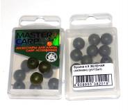 Бусина силиконовая зеленая ф 9 мм, в упаковке 12 шт.