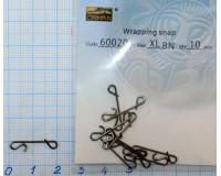 Безузловые соединения CAIMAN Wrapping snap XL, тест-35 кг, (10 шт)