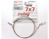Поводок никель-титан WIN 100 см, тест 27 кг, 7х7 trolling