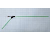 Противозакручиватель изогнутый зелёный 25 см