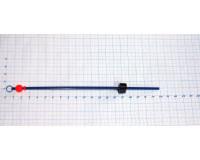 Сторожок металлический балансирный полимерный с бусиной  7,0-15,0 гр, Б-2