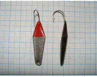 Блесна зимняя ШАРК  9,0 гр, 40 мм, серебро