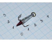 Блесна зимняя Ваучер  2,5 гр, олово с наклейкой серебро, кр. Mustad