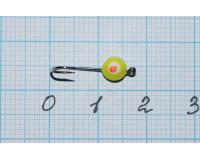 Мормышка  0,07 гр фосфорная, желтая №38
