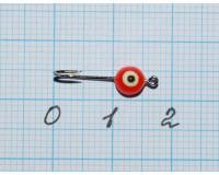 Мормышка  0,1 гр фосфорная, красная №38