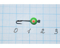 Мормышка  0,08 гр фосфорная, зеленая №38