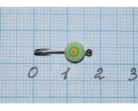 Мормышка  0,12 гр фосфорная № 3К с зеленым