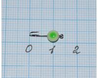 Мормышка  0,07 гр фосфорная, с зеленой точкой №4