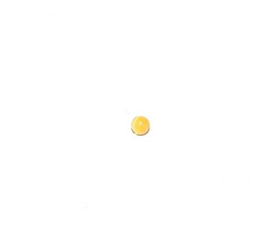 Кошачий глаз желтый с отверстием 4 мм