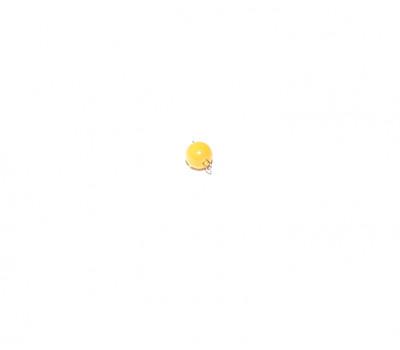 Кошачий глаз желтый с петлей из проволоки 4 мм