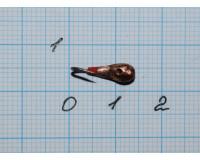 Мормышка Уралка с отверстием, чёрный + медь