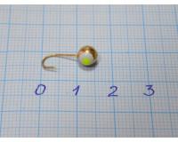 Мормышка 0,9 гр, d 5,0 мм Шар с люминофором, золото