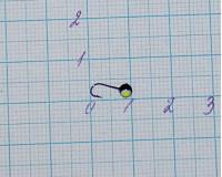 Мормышка 0,15 гр, d 2,0 мм Шар с люминофором, черный